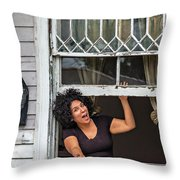 A New Orleans Greeting Throw Pillow