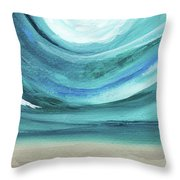 A New Start Wide- Art By Linda Woods Throw Pillow