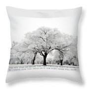 A New Year Throw Pillow