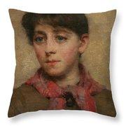 A Newlyn Maid Throw Pillow