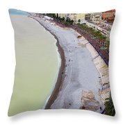 A Nice Beach Throw Pillow