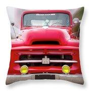 A Nice Red Truck  Throw Pillow