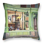 A Night At Evangeline Throw Pillow