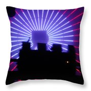 A Night At Santa Monica Pier Throw Pillow
