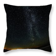 A Night At The Beach 10 Throw Pillow