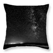 A Night At The Beach 11 Bw Throw Pillow