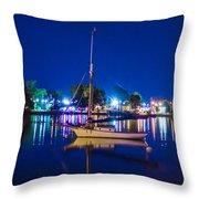 A Night At The Lake Throw Pillow
