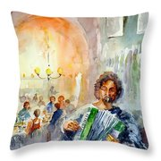 A Night At The Tavern Throw Pillow