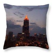 A Night In Atlanta Throw Pillow