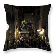A Night In Dubrovnik Throw Pillow