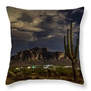 A Night In The Superstitions  Throw Pillow