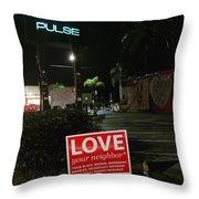 A Night Walk In Orlando  Throw Pillow