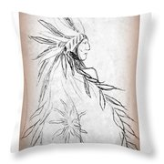 A Noble People Throw Pillow