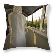 A Nun In A Monastery  Throw Pillow