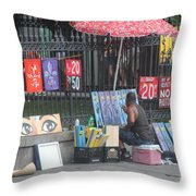 A Painting Artist Throw Pillow