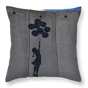 A Painting On The Israeli Separartion Throw Pillow