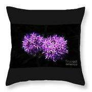 A Pair Of Alliums Throw Pillow