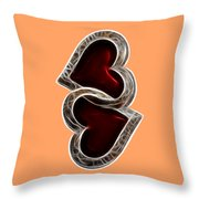 A Pair Of Hearts Throw Pillow