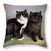 A Pair Of Pussy Cats Throw Pillow