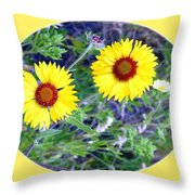 A Pair Of Wild Susans Throw Pillow