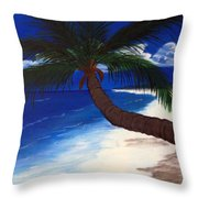 A Palm On The Coast Throw Pillow