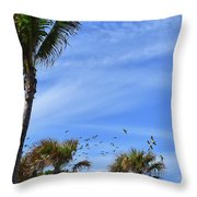A Pandemonium Of Parrots 2 Throw Pillow