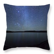 A Panoramic View Of The Milky Way Throw Pillow
