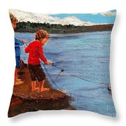 A Paper Boat Floated To An Open Sea  A World Separating You And Me Throw Pillow