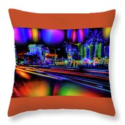 A Parallel Las Vegas Throw Pillow