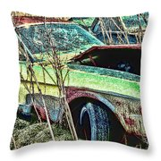 A Parted Out Mustang Throw Pillow
