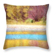 A Pastel Autumn Throw Pillow