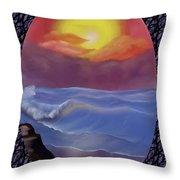 A Pastel Seascape  Throw Pillow
