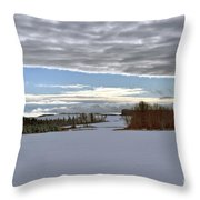 A Patch Of Blue Throw Pillow