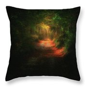 A Path In The Dark Throw Pillow