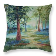 A Path Not Taken Throw Pillow