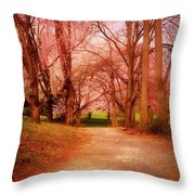 A Path To Fantasy - Holmdel Park Throw Pillow