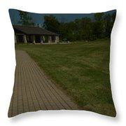 A Path To Shelter Throw Pillow by Cim Paddock