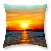 A Path To The Sun Throw Pillow
