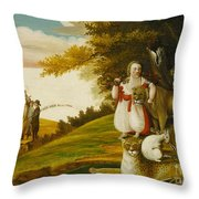 A Peaceable Kingdom With Quakers Bearing Banners Throw Pillow