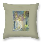 A Peaceful Journey Throw Pillow
