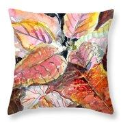 A Peach Of A Poinsettia Throw Pillow