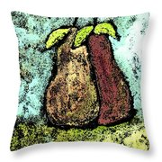 A Pear Pair Throw Pillow