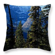 A Peek At The Peak Throw Pillow