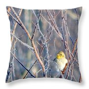 A Peep In The Tree Throw Pillow