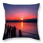 A Pend Oreillle Sunrise Throw Pillow