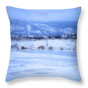 A Penticton Winter Throw Pillow