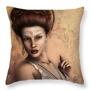 A Perfect Beauty Throw Pillow