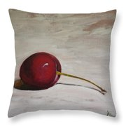 A Perfect Cherry Throw Pillow