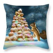 A Perfect Christmas Tree Throw Pillow
