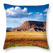 A Perfect Day Out West Throw Pillow